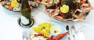 Appropriate seafood specialities for a seaside restaurant