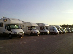 Camper vans at the Bay of the Authie